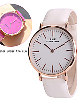 Women's Fashion Watch Unique Creative Watch Quartz Leather Band Casual Blue Purple Rose