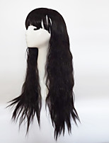 Women Synthetic Wig Capless Long Wavy Black With Bangs Party Wig Halloween Wig Natural Wigs Costume Wig