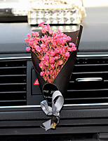 Car Air Outlet Grille Perfume   Globe Bouquet Of A Single Pink Purple Yellow Sky Blue Rice White Plastic Material   Automotive Air Purifier