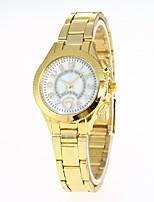 Mujer Reloj de Moda Reloj de Pulsera Chino Cuarzo Aleación Banda Casual Plata Dorado