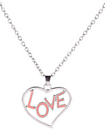 Women's Pendant Necklaces Heart Rhinestone Alloy Love Fashion Jewelry For Gift Evening Party