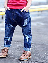 Jungen Jeans einfarbig Baumwolle Elasthan Frühling Herbst