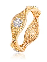 Women's Bangles Fashion Vintage Zircon Gold Plated Jewelry For Wedding Office & Career