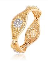 Femme Bracelets Rigides Mode Vintage Zircon Plaqué or Bijoux Pour Mariage
