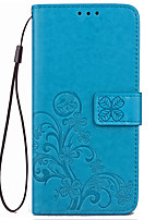 cheap -Case For Motorola Card Holder Wallet with Stand Flip Embossed Full Body Cases Solid Color Flower Hard PU Leather for Moto G5 Plus Moto G5