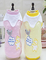 Dog Clothes/Jumpsuit Dog Clothes Casual/Daily Letter & Number Blushing Pink Yellow