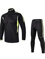 Homme Tee-shirt et Pantalons de Course Manches Longues Séchage rapide Respirabilité Extensible Ensemble de Vêtements pour Course Exercice