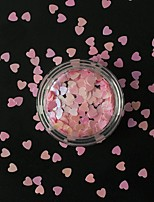 1g/Bottle Hot Fashion Sweet Lovely Pink Love Heart Nail Art Shining Sequins 3D Paillette Decoration Nail Salon DIY Beauty Accessories