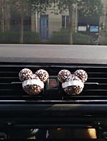 automobile aria uscita griglia profumo personalità creativo due caricato automotive purificatore d'aria