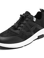 Men's Shoes Fabric Spring Fall Light Soles Sneakers Lace-up For Casual Black