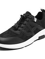 Da uomo Scarpe Tessuto Primavera Autunno Suole leggere Sneakers Lacci Per Casual Nero