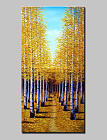 Hand-Painted Landscape VerticalAbstract Modern One Panel Canvas Oil Painting For Home Decoration