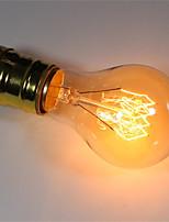 abordables -1pc 40W E26/E27 A60(A19) Blanc Chaud 2200-2700 K Rétro Intensité Réglable Décorative Ampoule incandescente Edison Vintage 220-240V