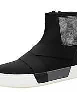 Men's Shoes PU Spring Fall Light Soles Sneakers Zipper For Casual Red Black