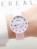 Women's Couple's Fashion Watch Chinese Quartz / Silicone Band Candy color Elegant Casual Black White Green Pink Navy