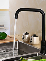 Modern/Comtemporary Tall/­High Arc Deck Mounted Adjustable Temperature with  Ceramic Valve Black Oxide Finish , Kitchen faucet