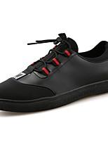 Для мужчин обувь Кожа Весна Осень Светодиодные подошвы Кеды Шнуровка Назначение Повседневные Черно-белый Черный/Красный