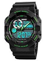 SKMEI Per uomo Orologio sportivo Orologio militare Orologio da polso Giapponese Digitale LED Calendario Cronografo Resistente all'acqua