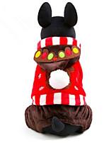 Hund Kostüme Hundekleidung Weihnachten Rentier Kaffee Rot