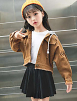 Girls' Solid Jacket & Coat,Polyester Fall Winter Long Sleeve