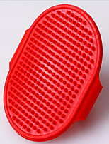 Dog Cleaning Brush Massage Red