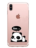 abordables -Coque Pour Apple iPhone X / iPhone 8 Motif Coque Panda Flexible TPU pour iPhone X / iPhone 8 Plus / iPhone 8