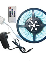 5M 300x5050LED Strip Light Sets  No Waterproof RGB 10 key controller AC100-240V AU / EU / US / UK Power Plug  DC12V 2A