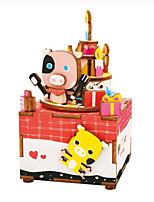 Kit fai-da-te Scatola musicale Giocattoli Cavallo Carosello Cartone animato Legno 1 Pezzi Non specificato Compleanno San Valentino Regalo