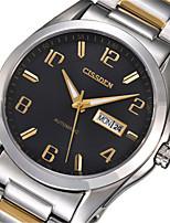 Men's Mechanical Watch Automatic self-winding Calendar Alloy Band Silver Gold