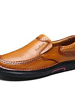 Men's Shoes Real Leather Cowhide Fall Winter Comfort Loafers & Slip-Ons Gore For Casual Office & Career Red Brown Black
