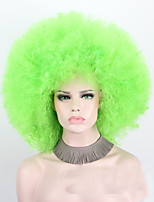 Donna Parrucche sintetiche Senza tappo Pantaloncini Riccio Verde Taglio medio corto Parrucca di Halloween costumi parrucche