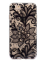 abordables -Coque Pour Apple iPhone 7 / iPhone 7 Plus IMD / Motif Coque Impression de dentelle Flexible TPU pour iPhone 7 Plus / iPhone 7 / iPhone 6s Plus