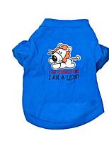 Hund T-shirt Hundekleidung Lässig/Alltäglich Kartoon Blau