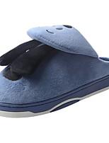 Men's Shoes Velvet Winter Fur Lining Fluff Lining Comfort Slippers & Flip-Flops Pom-pom For Casual Navy Blue Brown Gray