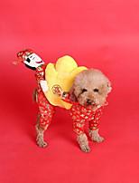 Cane Costumi Abbigliamento per cani Capodanno Geometrico Rosso