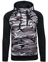 Men's Going out Casual/Daily Simple Sexy Street chic Hoodie Print Hooded Micro-elastic Cotton Polyester Long Sleeve Spring Fall