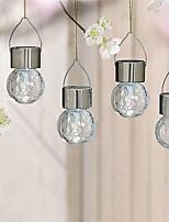 Lampada solare del giardino del percorso della lampadina di vetro del crackle dell'acciaio inossidabile 4pcs