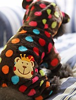 Dog Coat Hoodie Clothes/Jumpsuit Dog Clothes Casual/Daily Cartoon Blue Brown