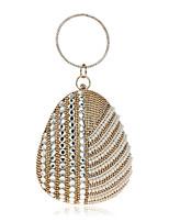 Donna Sacchetti Per tutte le stagioni Poliestere Borsa da sera Dettagli con cristalli Dettagli con perline per Serata/evento Formale Blu