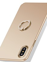Para iPhone X iPhone 8 iPhone 8 Plus Case Tampa Antichoque Suporte para Alianças Ultra-Fina Capa Traseira Capinha Côr Sólida Rígida PC