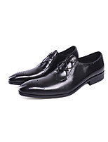 Men's Shoes Real Leather Oxford Cowhide Summer Fall Formal Shoes Oxfords Booties/Ankle Boots Lace-up Polka Dot For Office & Career Party