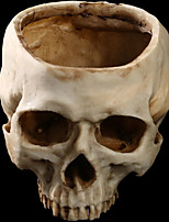 1PC Halloween Flowerpot Resin Skull House Escape Horror Props Decorations