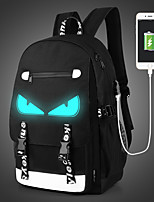 Men Bags All Seasons Canvas Backpack Zipper for Casual Outdoor Black