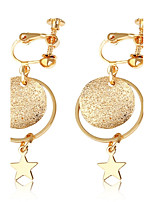 Women's Drop Earrings Clip Earrings Fashion Bling Bling Gold Plated Jewelry For Wedding Office & Career