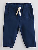 Pantalons Fille Couleur Pleine Coton Automne