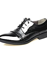 Men's Shoes Leather Spring Fall Formal Shoes Oxfords Lace-up For Casual Office & Career Brown Black