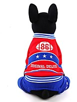 Dog Clothes/Jumpsuit Dog Clothes Casual/Daily Letter & Number Red Yellow Dark Blue