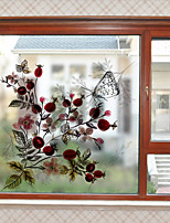 Floral Window Sticker,PVC/Vinyl Material Window Decoration