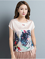 Women's Going out Daily Chinoiserie Summer T-shirt