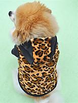 Cane Felpe con cappuccio Abbigliamento per cani Casual Leopardo Leopardo